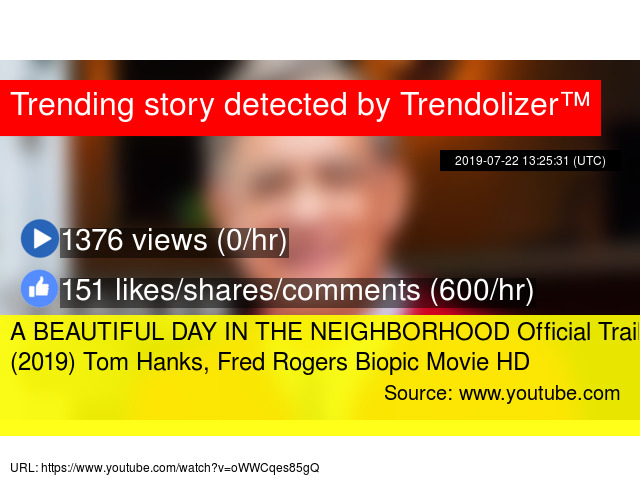 A BEAUTIFUL DAY IN THE NEIGHBORHOOD Official Trailer (2019