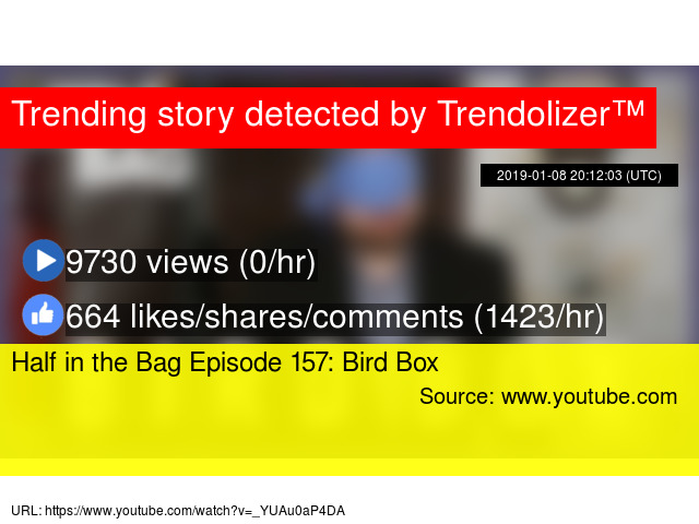 Half In The Bag Episode 157 Bird Box