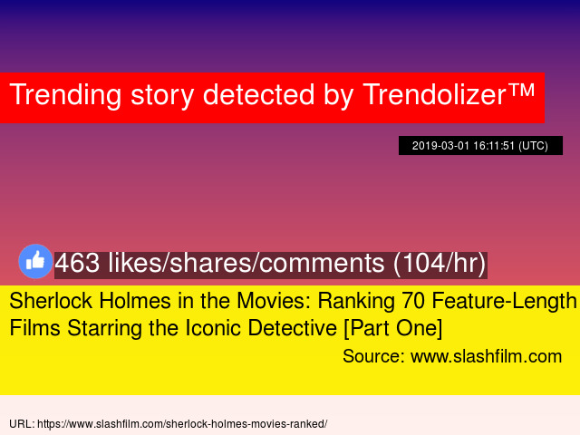 Sherlock Holmes In The Movies Ranking 70 Feature Length Films Starring Iconic Detective Part One