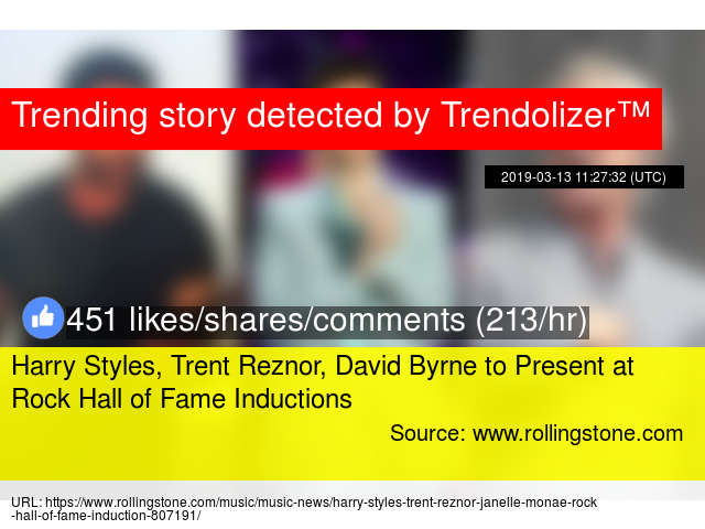 Harry Styles, Trent Reznor, David Byrne to Present at Rock
