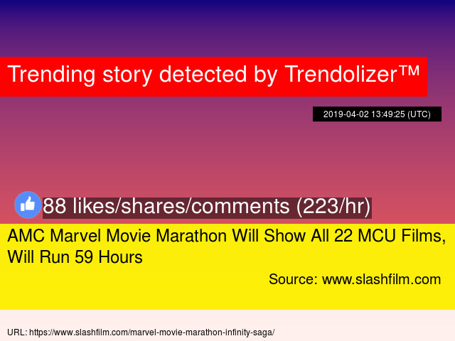 AMC Marvel Movie Marathon Will Show All 22 MCU Films, Will Run 59 Hours