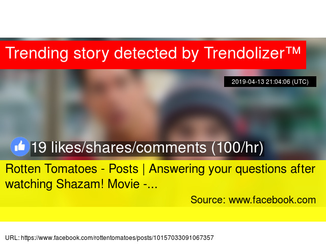 Rotten Tomatoes - Posts | Answering your questions after