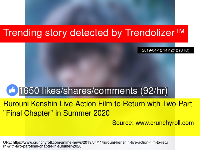 Rurouni Kenshin Live-Action Film to Return with Two-Part