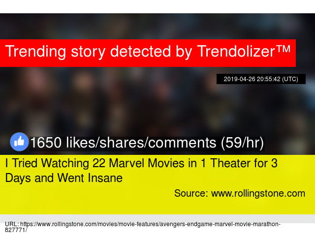 I Tried Watching 22 Marvel Movies in 1 Theater for 3 Days and Went