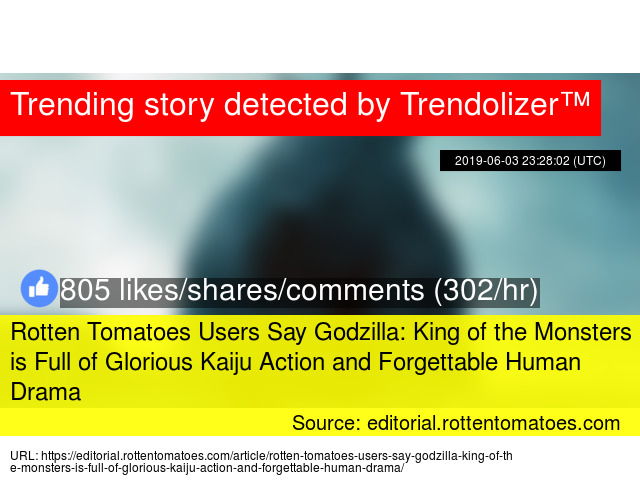 Rotten Tomatoes Users Say Godzilla: King of the Monsters is