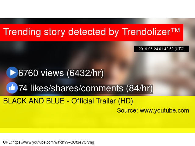 a86954057d3 BLACK AND BLUE - Official Trailer (HD)