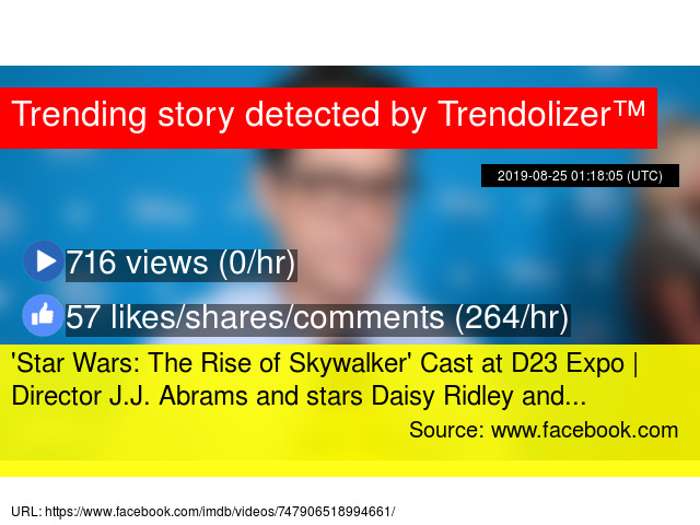 039 Star Wars The Rise Of Skywalker 039 Cast At D23 Expo Director J J Abrams And Stars Daisy Ridley And