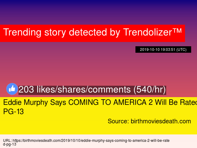 Ed Murphy Says Coming To America 2 Will Be Rated Pg 13