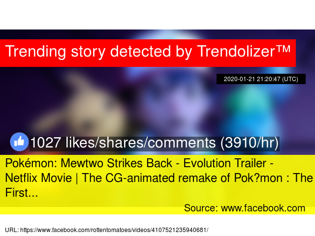 Pok Xe9 Mon Mewtwo Strikes Back Evolution Trailer Netflix