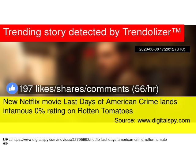 New Netflix Movie Last Days Of American Crime Lands Infamous 0 Rating On Rotten Tomatoes