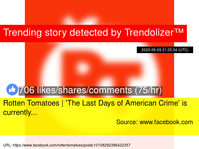 Rotten Tomatoes The Last Days Of American Crime Is Currently