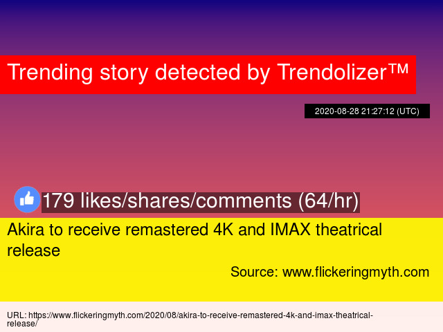 Akira To Receive Remastered 4k And Imax Theatrical Release