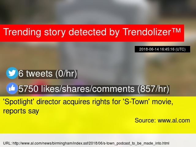 Spotlight' director acquires rights for 'S-Town' movie, reports say